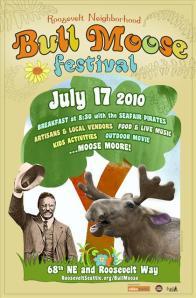 Bull Moose Festival Poster 2010